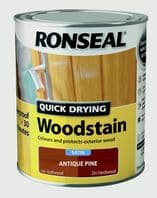Ronseal Quick Drying Woodstain Satin 750ml - Antique Pine